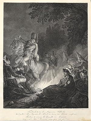 """Berlin 24. 01. 1712 - 17. 08. 1786 in Potsdam). """"Friedrich der II. vor der Liegnitzer Schlacht...."""