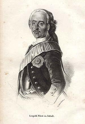Dessau 03. 07. 1676 - 09. 04. 1747 Dessau). preuss. Heeresreformer. Einer der populärsten ...