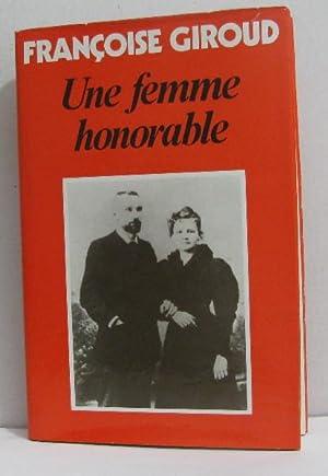 Une femme honorable: Giroud Françoise
