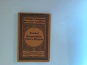 Bild des Verkäufers für Ausgewählte Oden und Elegien nebst einigen Bruchstücken aus dem Messias. zum Verkauf von Michael Simon | ANTIQUARIAT FÖRDEBUCH
