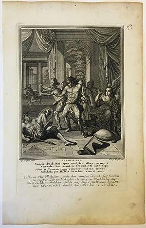 Richter 16 - Simsons Fall. Delila. Kupferstich