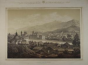 Innsbruck gegen Süd-Ost. Tonlithographie v. A. Guberner: Innsbruck