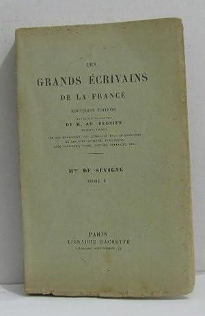 Les grands écrivains de la france -: Mme De Sévigné
