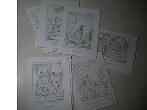 Sammlung von 11 Stahlstichen. Geschichte, tls. Altertum.