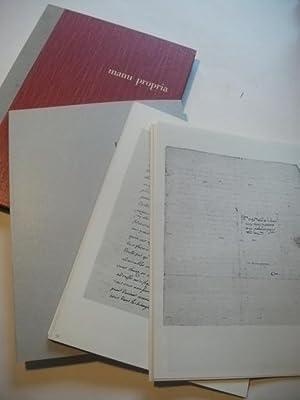 Ausgewählte Stücke aus den Briefsammlungen der UniversitätsBibliothek Basel.: manu propria