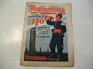 Nachrichtenblatt ehem. 170 er. Regimentstag des ehem. 9. Bad. Inf. Regt. 170 u.d. Erstazformation ...