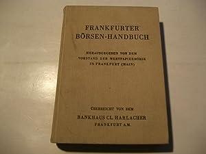 Frankfurter Börsen-Handbuch.: Vorstand der Wertpapierbörse in Frankfurt (Hg.)