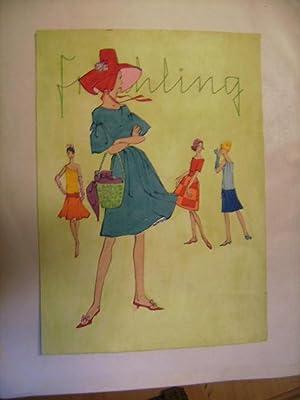 Originalentwurf zu Mode. Frauenkleidung. Frühling.: Heck, Otrud.