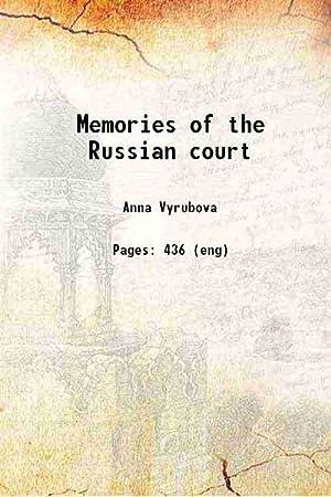 Memories of the Russian court 1923 [Hardcover]: Anna Viroubova