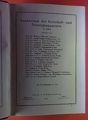 Handbuch der biologischen Arbeitsmethoden. Abteilung V: Methoden zum Studium der Funktionen der ...