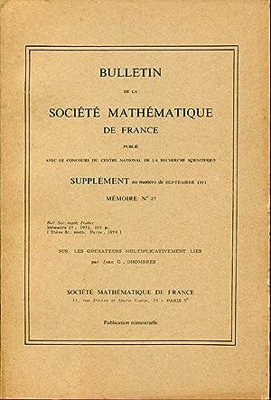 Sur les opérateurs multiplicativement liés: DHOMBRES Jean G.