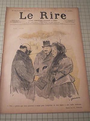 1897 Le Rire Journal Humoristique Paraissant Le Samedi - Illustrated French Magazine - Le Langage ...