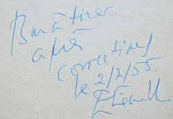 Epreuves corrigées d'un texte d'Etiemble sur Senancour.: Étiemble René 1909