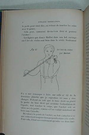 Quelques observations sur l'art du violon. Paris,: Meugy A(lphonse).