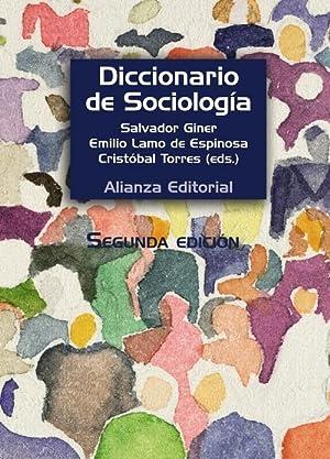 Diccionario de sociología: Giner, Salvador/Lamo, Emilio/Torres, Cristóbal