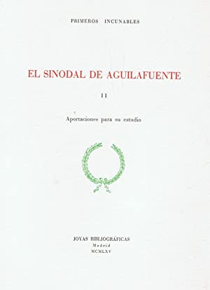 Imagen del vendedor de EL SINODAL DE AGUILAFUENTE. 2 Tomos. a la venta por Librería Torreón de Rueda