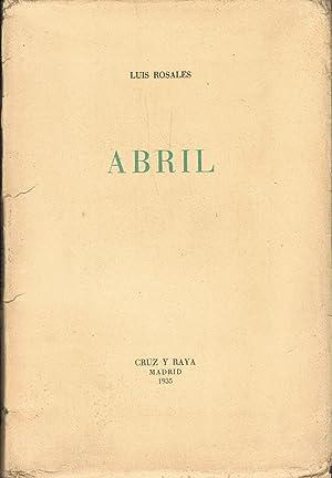 Imagen del vendedor de ABRIL a la venta por Librería Torreón de Rueda