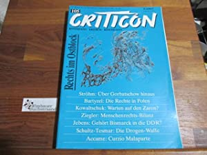Criticon. Konservative Zeitschrift 105 Januar Feburar 1988: Schrenck-Notzing, Caspar von