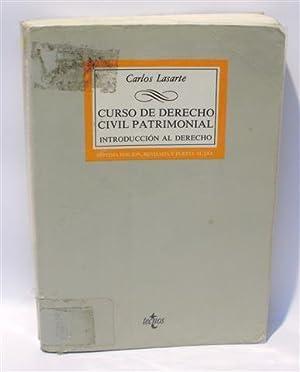 CURSO DE DERECHO CIVIL PATRIMONIAL - Introducción: LASARTE ÁLVAREZ, Carlos