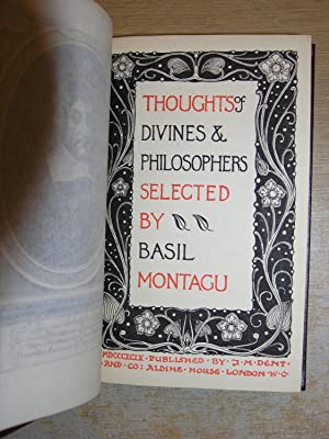 Thoughts Of Divines & Philosophers Selected by Basil Montagu