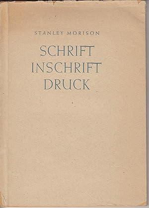 Schrift, Inschrift, Druck.: Stanley Morison
