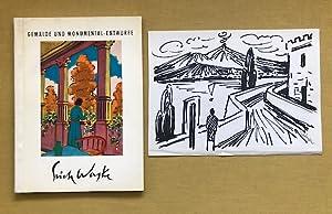 """Eigenhändige schwarzweiße Vorzeichnung zur ausgeführten Arbeit """"Promenade am Vesuv"""" (1958)...."""