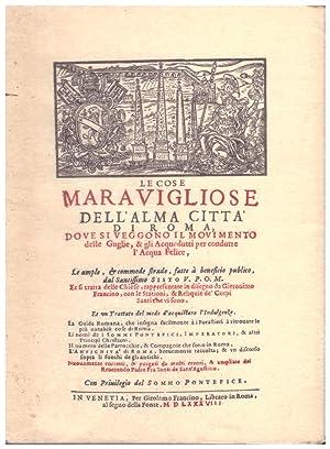 LE COSE MERAVIGLIOSE DELL'ALMA CITTA' DI ROMA: Francino,Gieronimo