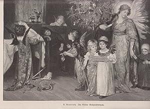 Org Holzstich Des Kindes Weihnachtstraum - Weihnachten S. Granitsch