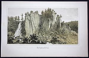Bad Rippoldsau Burgbachfall Schwarzwald Baden-Württemberg Lithographie