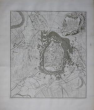 Mons Bergen plan map gravure Kupferstich engraving