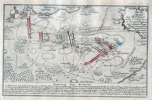 Mügeln Schlacht von 1757 Sachsen Kupferstich
