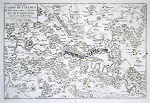 Charleroi Gembloux Fleurus Jemeppe map gravure carte Karte Kupferstich