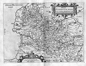 Artois France Carte Gravure estampe Kupferstich map