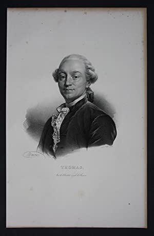 Antoine Leonard Thomas Dichter author Lithographie Portrait Folio