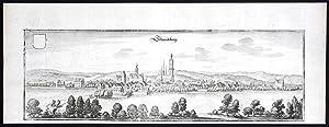 """""""Schmideberg"""" - Bad Schmiedeberg LK Wittenberg Sachsen-Anhalt Original Kupferstich Merian"""