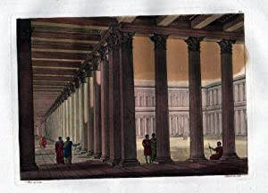 Athen Athens Forum Aquatinta