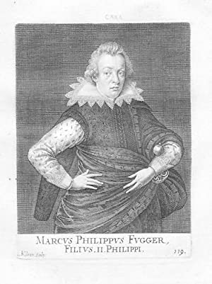 Marx Markus Philipp Fugger Portrait Kupferstich