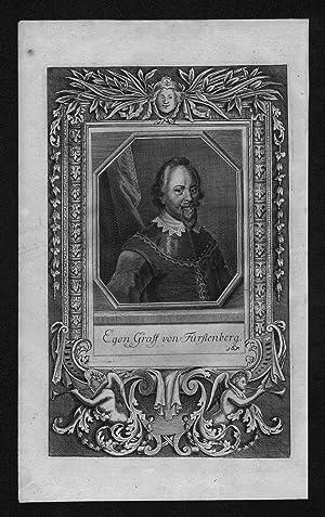 Egon VIII von Fürstenberg-Heiligenberg engraving Kupferstich Portrait