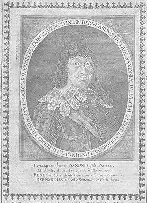 Bernhard von Sachsen-Weimar Feldherr Portrait Kupferstich engraving