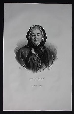Francoise de Graffigny Issenbourg Happoncourt Lithographie Portrait Folio
