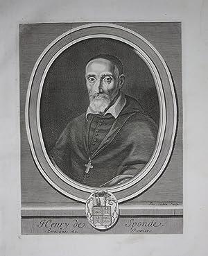 Henri de Sponde Henricus Spondanus Jurist Frankreich Kuperstich Portrait