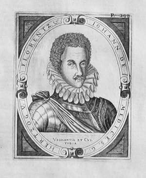 Giovanni di Medici Firenze Kupferstich Portrait acquaforte engraving