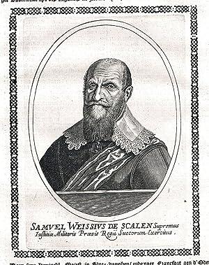 Samuel Weissius de Schalen Schweden Sweden Portrait Kupferstich