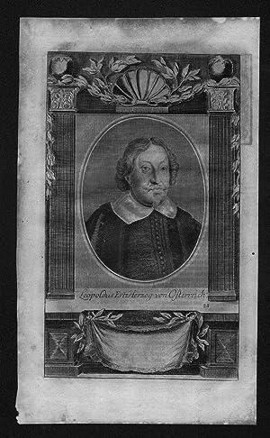 Leopold Wilhelm von Österreich Erzherzog engraving Kupferstich Portrait