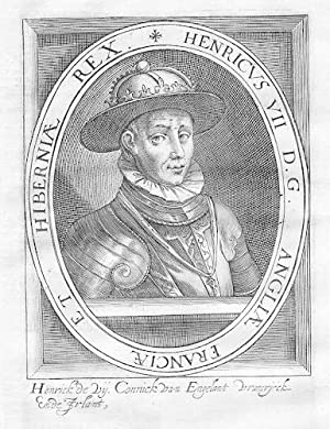 Heinrich VII. v. England Irland France Portrait Kupferstich engraving