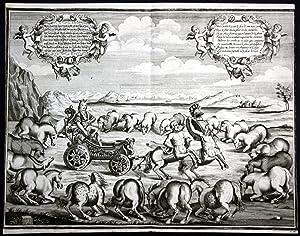 Wilhelm Herzog von Newcastle Pferd Pferde riding horse Kupferstich