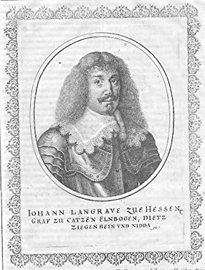 Johann v. Hessen-Braubach Landgraf Portrait Merian
