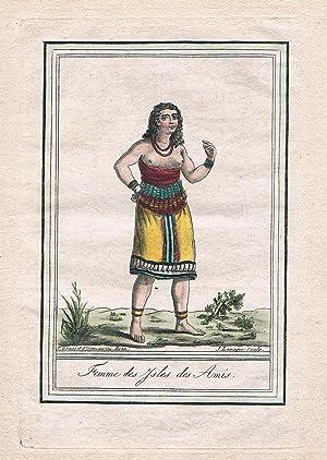 Tonga Polynesia Archipelago Pacific costumes Trachten engraving Kupferstich