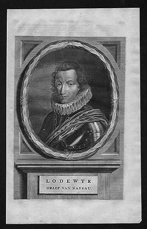 Ludwig von Nassau Dillenburg Holland Niederlande Portrait Kupferstich