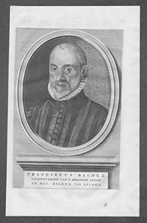 Francisco de Valdez Valdes Leiden Portrait Kupferstich grabado gravure